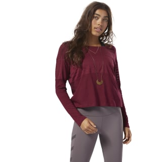 Mesh Long Sleeve Layer Red CZ9467