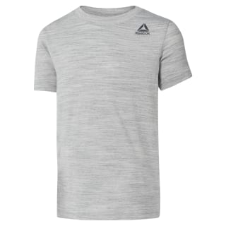Boys Training Essentials Marble Melange T-Shirt Skull Grey DH4349