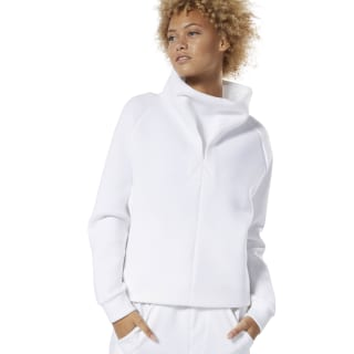 Training Supply Cowl Neck Top White DP5611