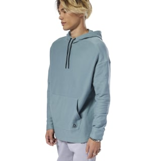 Training Essentials Twill Hoodie Teal Fog DU3739