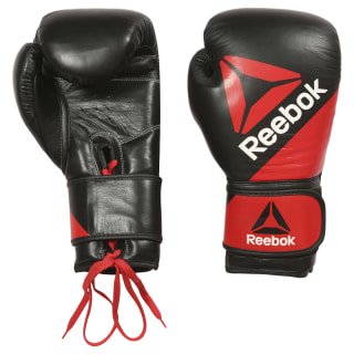 Guantes de piel Combat Training - 14 oz (400 g) Multicolor / Reebok Red / Black BG9379