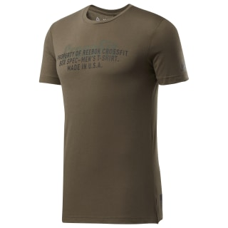 Camiseta Reebok CrossFit® USA Move Army Green Mel DU5067