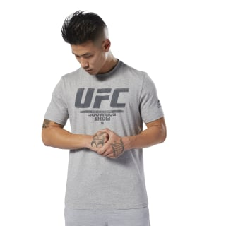 Remera con logo UFC Fan Gear Medium Grey Heather DU4583