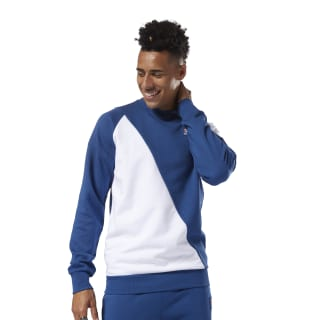 Sweat-shirt Classics Advanced Bunker Blue / White DJ1925
