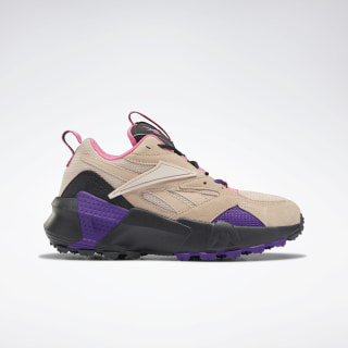 Aztrek Double Mix Trail Shoes Buff / True Grey 8 / Regal Purple EG8807