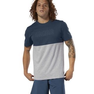 LES MILLS® Tee Blue Hills/Medium Grey Heather DV2709