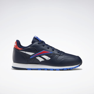 Classic Leather Shoes Collegiate Navy / Radiant Red / White EG5746