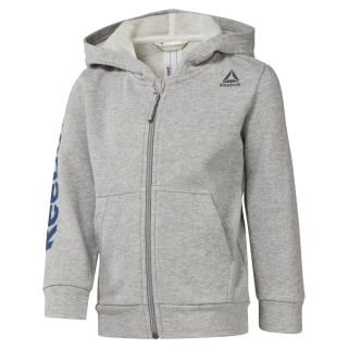 Boys Training Essentials Fullzip Hoody Medium Grey Heather DM5552