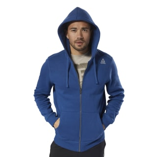 Sweat à capuche molletonné avec zip intégral Elements Bunker Blue D94203