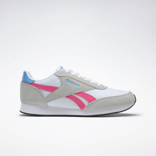 Reebok Royal Classic Jogger 2.0 Shoes Skull Grey / White / Pink / Cyan DV6566
