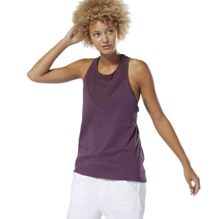 Training Supply Racer Tank Top Urban Violet DP5642