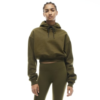 Sweat à capuche crop VB Vb Army Green FM3629