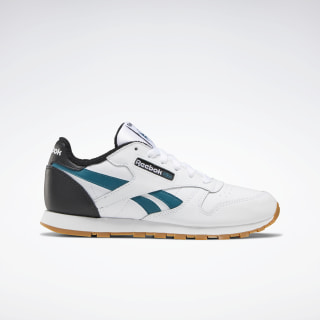 Classic Leather Shoes White / Black / Heritage Teal EG5752