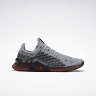 Flashfilm Trainer Shoes Powder Grey / Black / Radiant Red EF4578