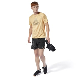 Running Reflective Move Tee Semi Solar Gold DU4290