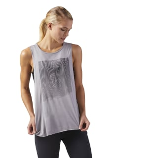 Moire Muscle Tank Powder Grey CD7689