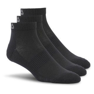 Reebok Essentials Unisex Ankle Sock - 3 Pack Black AJ6249