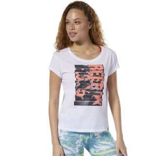 Remera Gs Reebok Letterpress white DP6203