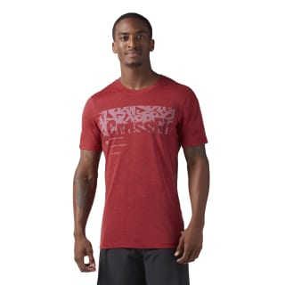 Reebok CrossFit Poly Blend Tee Rich Magma Melange CD4501