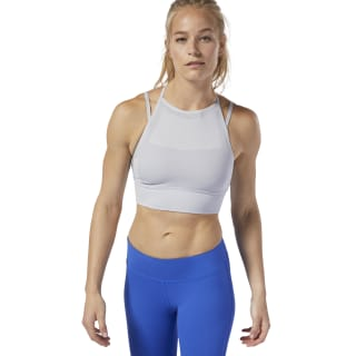 Reebok CrossFit® MyoKnit Bra Light Grey Heather / Cool Shadow DQ0041