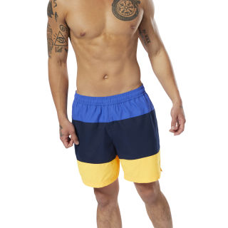 Плавательные шорты Beachwear Modern Retro crushed cobalt/collegiate navy/solar gold DP6501