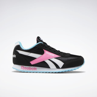 Reebok Royal Classic Jogger 2.0 Shoes Black / Neon Blue / Solar Pink EF3387