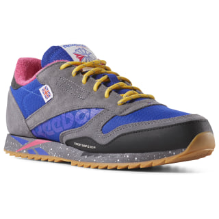 Classic Leather Ripple Altered Shoes - Grade School Ash Grey / BLUE / PINK / GOLD DV7451