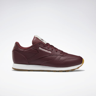 Classic Leather Shoes Maroon / WHT DV7102