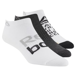 Foundation Womens 3-Pack No-Show Sock White / Black Melange / White D56073