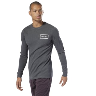 CrossFit Long Sleeve Thermal Top Dark Grey Heather DP4581