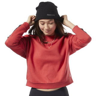 Training Essentials Logo Crew Sweatshirt Rebel Red EK1357