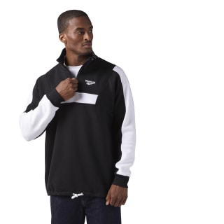 Quarter-Zip Fleece Sweatshirt Black CE4993