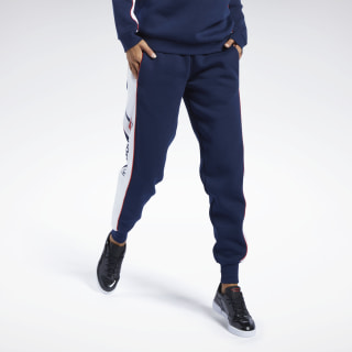 Pantaloni Classics Linear Fleece Collegiate Navy FJ3307