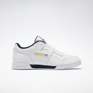 Workout Plus White / Collegiate Navy / Toxic Yellow DV8749
