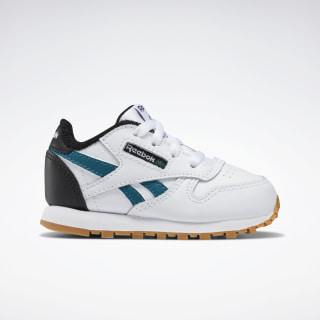 Classic Leather Shoes White / Black / Heritage Teal EG5755