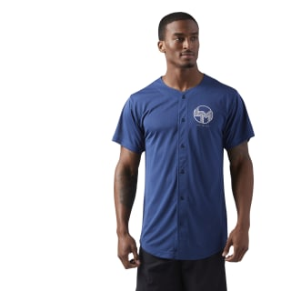 LES MILLS Baseball Tee Washed Blue CD6183