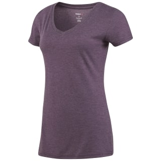 Reebok V-Neck T-Shirt Pacific Purple BQ2421