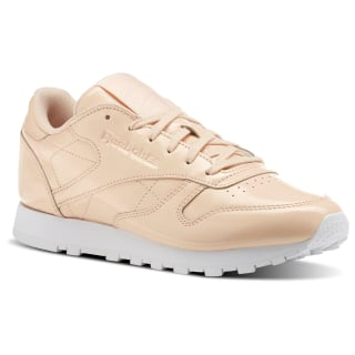 Classic Leather PATENT Pink/Desert Dust/White CN0771