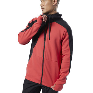 One Series Training Colorblock Hoodie Rebel Red EJ5983