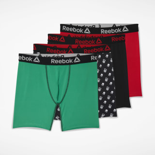 Performance Boxer Briefs 4 Pairs Red CM6588