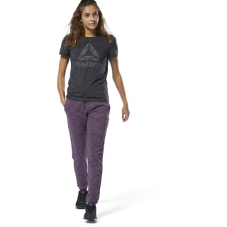 Training Essentials Gemarmerde Broek Urban Violet DU4930