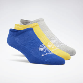Classics Foundation Unisex Invisible 3-Pack Toxic Yellow / Medium Grey Heather / Cobalt EC8569