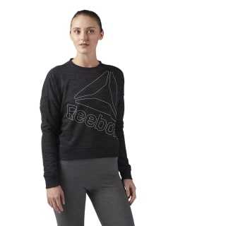 Reebok Elements Logo Crew Neck Black CF8649