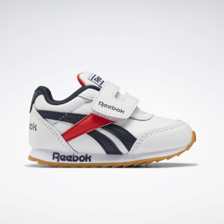 Reebok Royal Classic Jogger 2 Shoes - Toddler White / Collegiate Navy / Radiant Red EH2111
