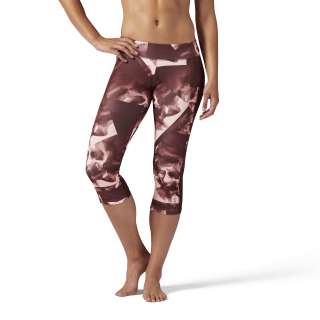 Capris estampados Workout Ready - Smoke PEACH TWIST F17-R CE7771