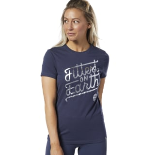 T-shirt Reebok CrossFit® Fittest On Earth Heritage Navy DY8411