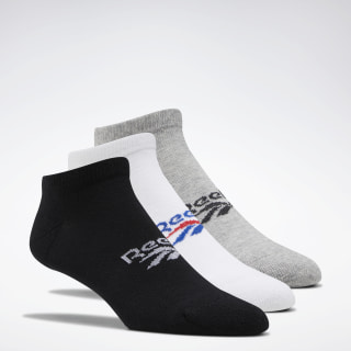 Classics Foundation Low Cut Socks 3 Pairs Black / Medium Grey Heather / White FL9310