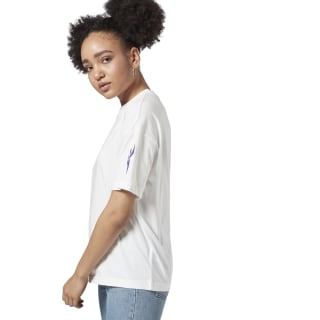 Classics Vector Print Tee White / Team Purple ED3855
