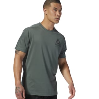 Speedwick Graphic MOVE Tee Chalk Green D93766