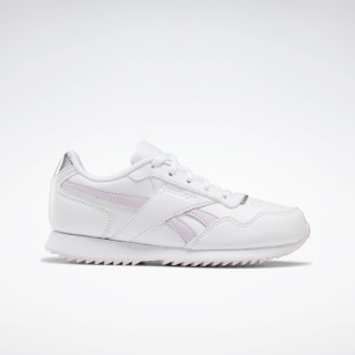Reebok Royal Glide Ripple Shoes White / Pixel Pink / Silver Metallic FU7657